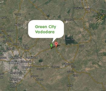 Green City Vadodara Map