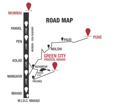 Green City Raigad Plots - Road Map